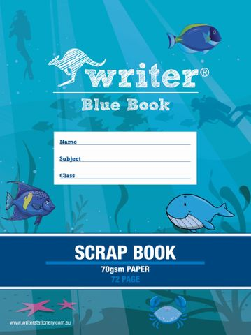 Blue Book 72pg Scrap Book 70gsm