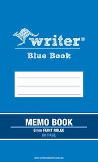 Blue Book 80pg Memo Book