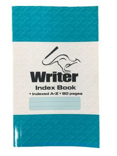 Writer Indexed Memo Book 80pg