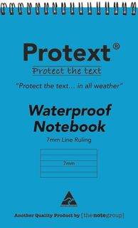 Protext Waterproof 7mm Ruled Notebook