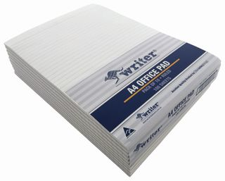 Writer A4 100lf Office White Ruled Notepad