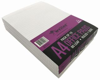 Writer A4 80lf Office White Ruled Notepad