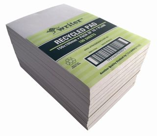 Writer 6*4 100lf Recycled Plain Notepad