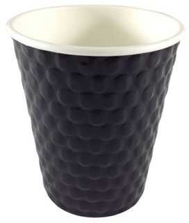 Writer Breakroom 8oz Black Double Wall Cup Bx 500
