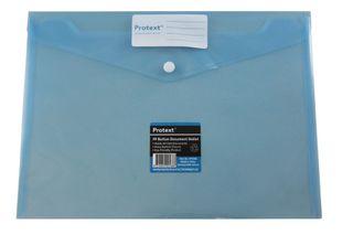 Protext Button Document Wallet Blue