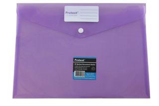 Protext Button Document Wallet Purple