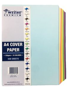 Writer A4 500 Sheet 15 Mixed Colours Cover Paper