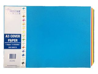 Writer A3 500 Sheet 15 Mixed Colours Cover Paper