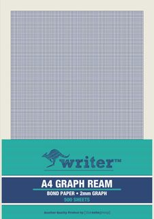 Writer A4 2mm Graph 500 Sheet Ream s/sided