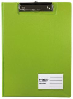 Protext A4 PP Clip Folder - Lime Green