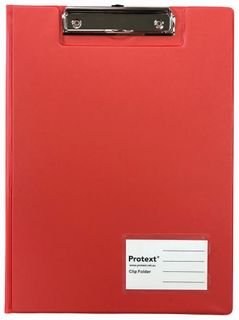 Protext A4 PP Clip Folder - Red
