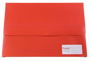 Protext Foolscap Velcro Doc Wallet -Red