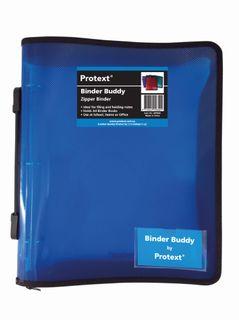 Protext Zip Binder 3 Ring Blue