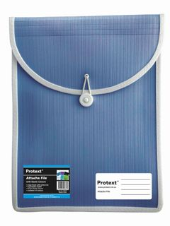 Protext Attache File with Elastic Closure - Blue