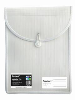 Protext Attache File with Elastic Closure - White