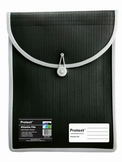 Protext Attache File with Elastic Closure - Black