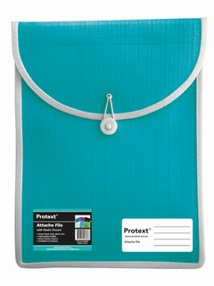 Protext Attache File with Elastic Closure - Aqua