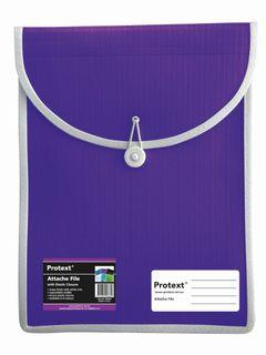Protext Attache File with Elastic Closure - Purple