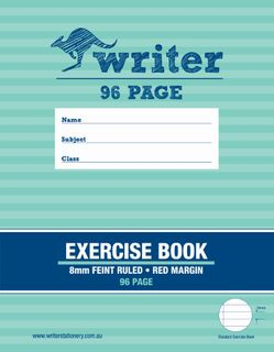 Writer 9*7 96pg 8mm Ruled Exercise Book