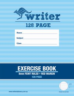 Writer 9*7 128pg 8mm Ruled Exercise Book