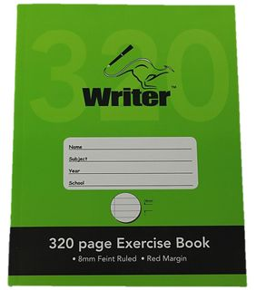 WRITER 9*7 320pg 8mm Ruled Exercise Book
