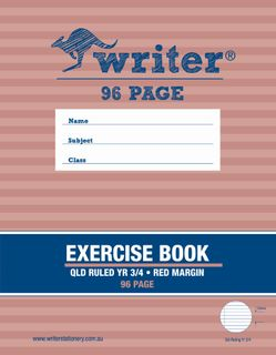 Writer 96p QLD Yr3-4 Exercise Book