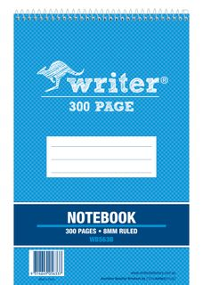 Writer 8*5 300pg Notebook