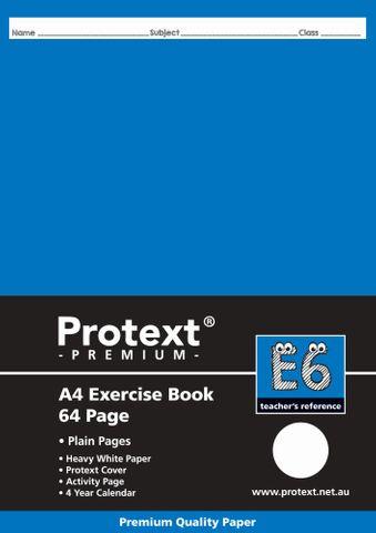 Protext Premium A4 64pg Plain Exercise Book