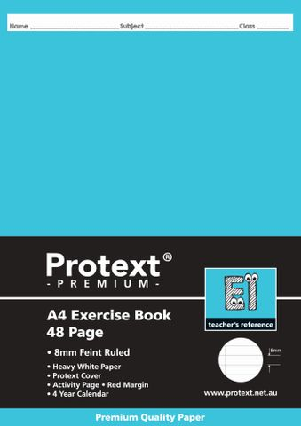 Protext Premium A4 48pg 8mm Ruled Exercise Book