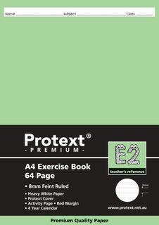 Protext Premium A4 64pg 8mm Ruled Exercise Book