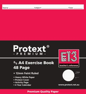Protext Prem 2/3A4 48pg 12mm Ruled Exercise Book