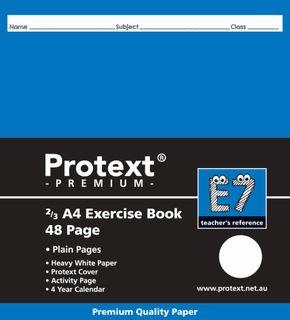 Protext Premium 2/3A4 48pg Plain Exercise Book