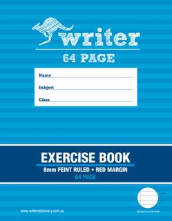 Writer 9*7 64pg 8mm Ruled Exercise Book