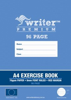 Writer Premium A4 96pg 8mm Ruled Exercise Book