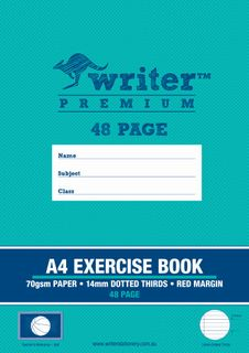 Writer Premium A4 48pg 14mm Dotted Thirds Exercise Book