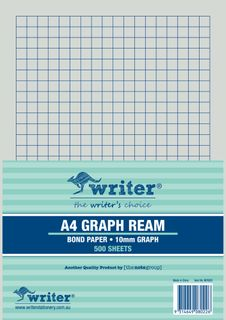 Writer A4 10mm Graph 500 Sheet Ream s/sided