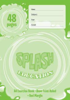 Splash A4 48pg 8mm Ruled Exercise Book