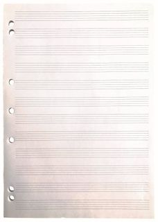 Writer A4 50 sheet 70gsm Music Notepad