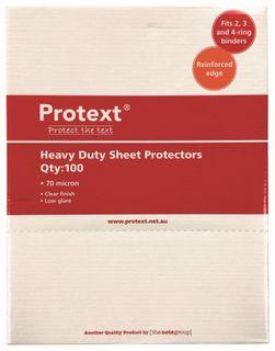 Protext Heavy Duty 70 Mic Sheet Protectors pk100