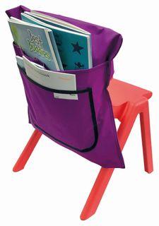 Writer Nylon Chair Bags - Purple