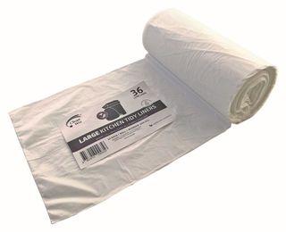 Oxo-Biodegradable 36ltr Bin Liner Pk50 White