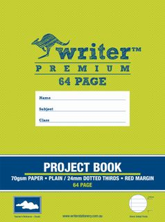 Writer Premium 330x240mm 64pg 24mm Dotted Thirds Project Book