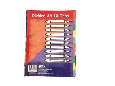 Writer A4 10 Tab colour board divider
