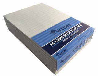 Writer A4 100lf Bond 14mm Ruled Notepad