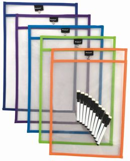 Protext A3 Rewritable Pockets pk5 + Markers