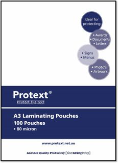 Protext A3 Laminating Pouch 80mic pk100