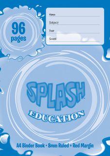 Splash A4 96pg 8mm Ruled Binder Book