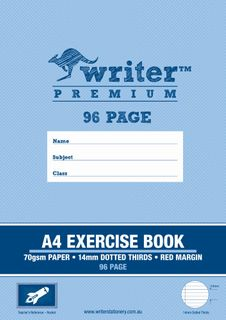 Writer Premium A4 96pg 14mm Dotted Thirds Exercise Book
