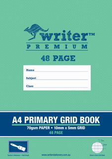 Writer Premium A4 48pg Primary Grid Exercise Book
