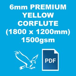 PREMIUM YELLOW 6MM CORFLUTE